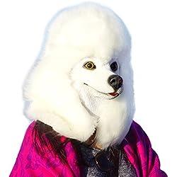 Máscaras de perros Caniche blanco.