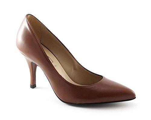 DIVINE FOLLIE 420600 marrone decolletè donna punta tacco 38