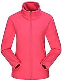 L Amore Damen Fleecejacke mit Top Durchgehendem Reißverschluss, Winddicht  Stehkragen Fleece Jacke Sweatjacke, d7b2260468