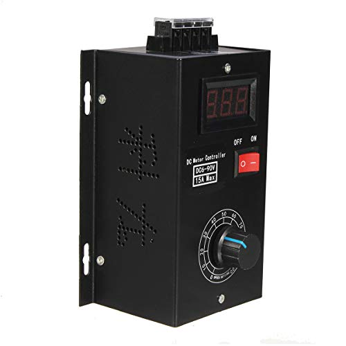 Sps-kit (KUNSE DC 6-90V PWM DC Motor Speed Controller Regulator SPS 15A Governor mit Volt Display)