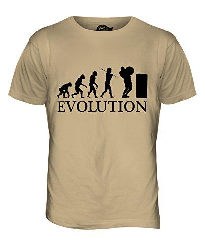 CandyMix Atlas Steine Stones Of Strength Evolution Des Menschen Herren T Shirt Sand