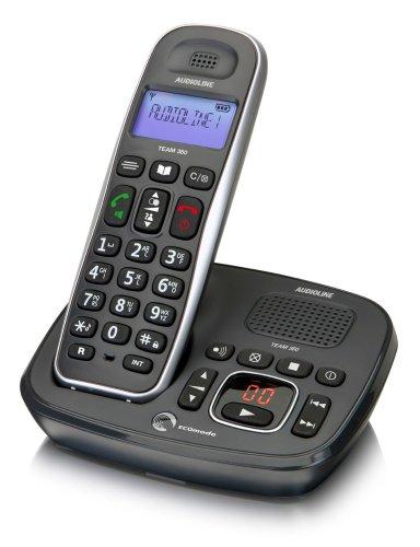 Audioline 901981 Team 380 DECT-Telefon (ECO-Mode, niedrige Strahlung) mit Anrufbeantworter