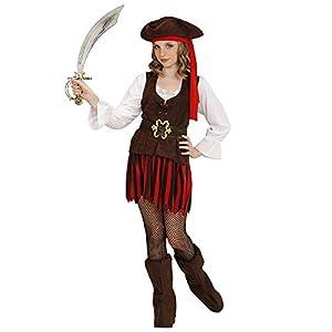 WIDMANN 65636infantil Disfraz Pirata niña, Girls, 128cm