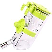 SymbolLife Botella de agua por goteo n-Top Dog Llene la botella de agua del bebedor del animal doméstico del alimentador del agua del animal doméstico del dispensador del agua Verte