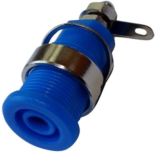 Aerzetix: 5 X Stecker Banana Buchse weiblich Blau 4 mm 32 A 23,5 mm M12 vernickelt C14380