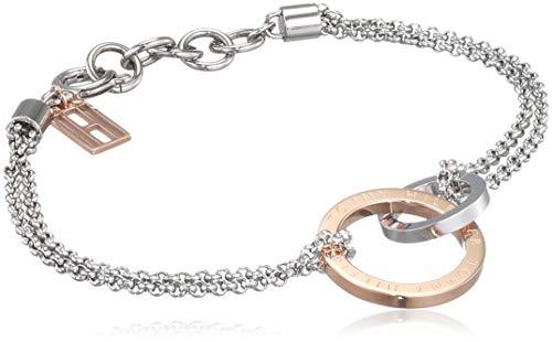 Tommy Hilfiger Casual Core Damen Armband Edelstahl Silber Rosévergoldet 19,5 cm