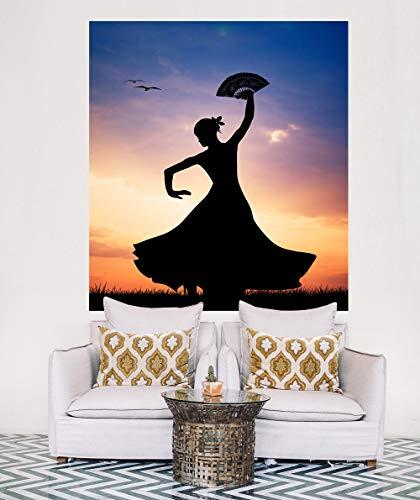 Selbstklebende Fototapete - Flamencotänzerin - 178x200 cm - Wandtapete – Poster – Dekoration – Wandbild – Wandposter - Bild – Wandbilder - ()