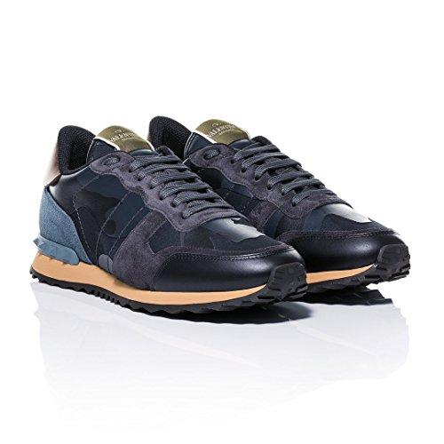 Valentino , Herren Sneaker Navy, Navy - Größe: 41 EU