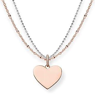 THOMAS SABO Damen-Kette Love Bridge Herz 925 Sterling Silber Länge 40 bis 45 cm LBKE0004-415-12-L45v