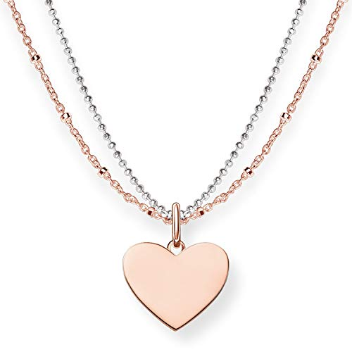 Thomas Sabo Damen-Kette Love Bridge Herz 925 Sterling Silber 750 rosegold vergoldet Länge von 40 bis 45 cm LBKE0004-415-12-L45v