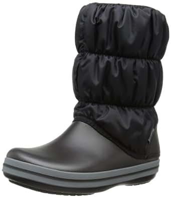 Crocs Winter Puff, Women's Boots, Black (Black/Charcoal), 3 UK