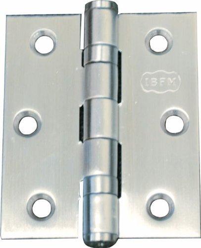 Preisvergleich Produktbild Plain Türscharnier für das Buch in Edelstahl matt 76x63 mm conf. 2 Stück