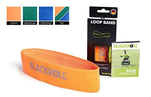 BLACKROLL  Fitnessband Fitnessband Trainingsband Gymnastikband Sportband mit leichter Dehnbarkeit, orange, One Size, AMLBOR (Stretch-bänder, Gymnastik)