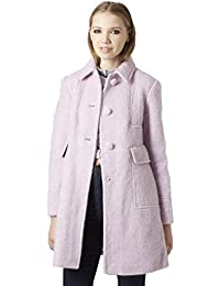 Topshop Women's Lilac Mohair Wool Blend Peter Pan Fitted Coat RRP £89 Sizes 8-12