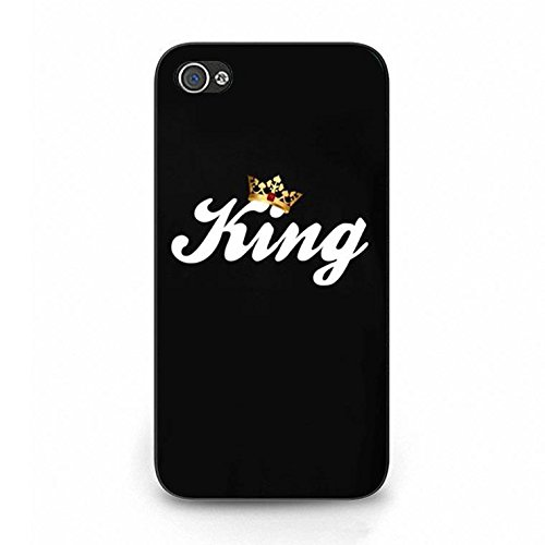 Lovers Boyfriend Girlfriend Couple Phone Hard Case Cover for Iphone 4/4s King Queen Couples PC Cover Case Color093d