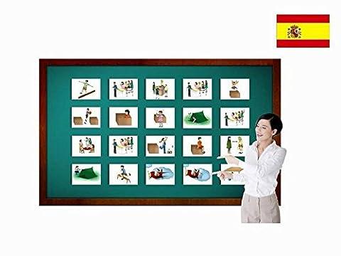 Bildkarten zur Sprachförderung in Spanisch - Präpositionen - Tarjetas de vocabulario - Preposiciones