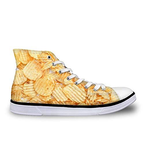Women Fresh Green Canvas Shoes Hi Tops Lace Up Walking Sneakers Spring Style Potato Chips CC2071AK UK 5 (Dillards Schuhe Für Frauen)