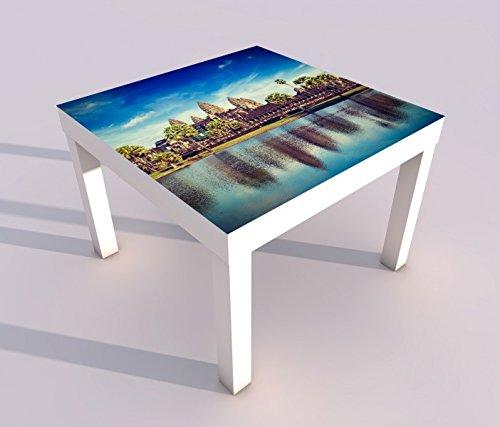 Design - Tisch mit UV Druck 55x55cm Angkor Wat Tempel Kambodscha Spieltisch Lack Tische Bild Bilder Kinderzimmer Möbel 18A1206, Tisch 1:55x55cm