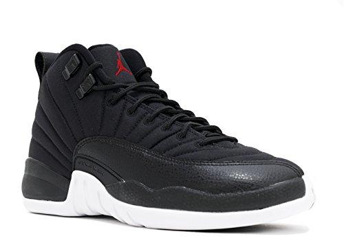 Nike Jungen Air Jordan 12 Retro BG Basketballschuhe, Schwarz (Schwarz / Gym Rot-Weiß), 37.5 EU