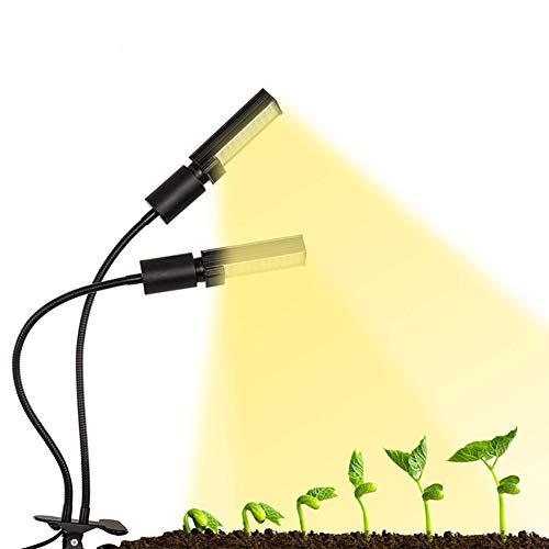 Licht, LED-Pflanzenwachstumslicht, Pflanzenlichtquelle, Doppelscheinwerfer, Schwarzes Clip-Pflanzenlicht, Gewicht 0,63 Kg, Produktvolumen 51,0 Cm * 36,0 Cm * 45,0 Cm