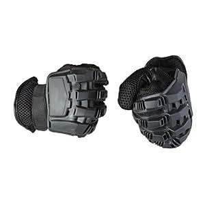 TOMOUNT® Gants Gloves Noir Fitness Tactique Combat Airsoft Paintball Vélo Sports Martiaux Escalade Taille M