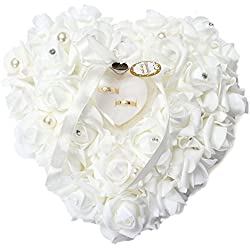 Corazón porta alianzas15x13cm romántico