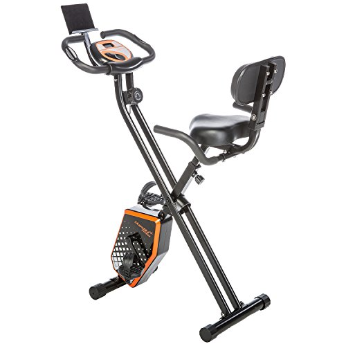 Skandika Foldaway X-1000 Plus Fitnessbike, Schwarz/Orange, XL
