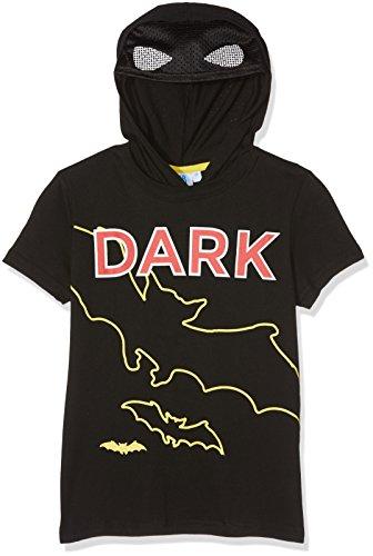 FABTASTICS Jungen T-Shirt mit Kapuze Lego Batman, Schwarz (Schwarz), 116 (Kapuzen-print T-shirt)