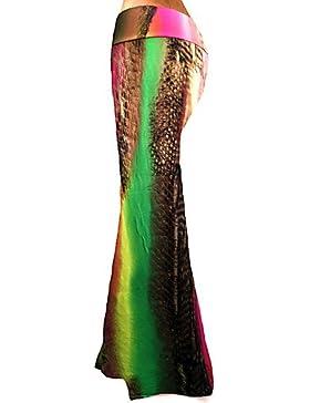 De las mujeres Faldas-Maxi Tallas Grandes / Simple Elástico-Poliéster / Licra , s