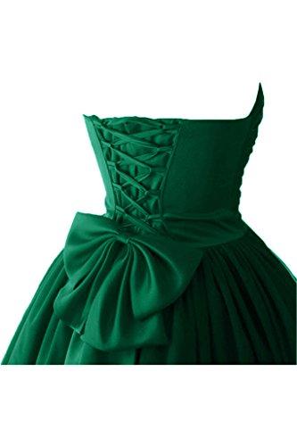 Victory bridal à coeur abendkleider court tuell promkleider ballkleider brautjungfernkleider en satin Vert - Dunkel Gruen