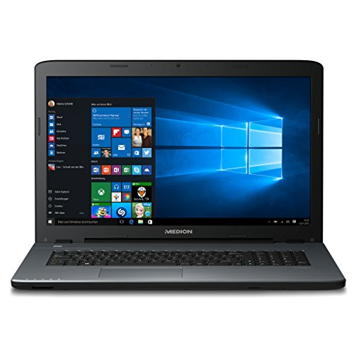 "MEDION AKOYA P7641 (MD 99856) 43,9cm 17,3"" Zoll Notebook, Intel Marrow i7-6500U, 2,5GHz, 8GB RAM, 1TB HDD, 128GB SSD, NVIDIA GeForce 930M, Windows 10, silber"