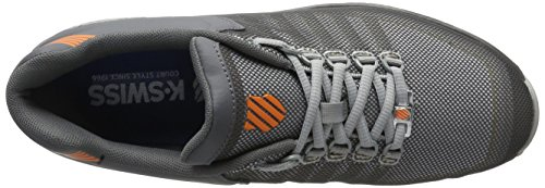 K-Swiss Rinzler Trainer, Sneakers Basses Homme Gris (Charcoal/white/vibrant Orange)