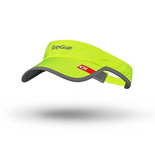 GripGrab Radsport Hi-Vis Lightweight Running Visor, Yellow, One Size