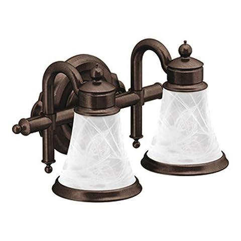 Moen YB9862ORB Waterhill Two Globe Bath Light, Oil Rubbed Bronze by Moen