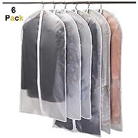 Niviy Kleidersäcke 6 Stück Transparent Kleidersack 120 x 60 cm + 100 x 60 cm, Atmungsaktiver Stoff, Hochwertiger Anzugsack, für Anzüge Kleider Mäntel Sakkos Hemden Abendkleider Anzugsack Aufbewahrung