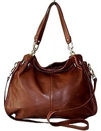 ccbf995a883a1 Sa-Lucca echt Leder Handtasche Damentasche Shopper Tasche Ledertasche 225  braun MADE IN ITALY