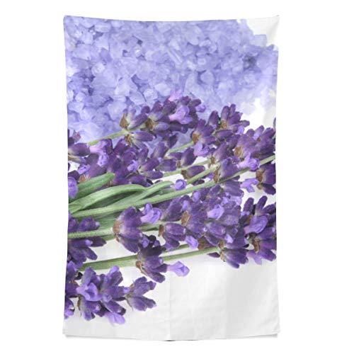 Lila Haufen Lavendel Blumen Blossom Wandteppich Wandbehang Cool Post Print für Wohnheim Home Wohnzimmer Schlafzimmer Tagesdecke Picknick Bettlaken 80 X 60 Zoll -