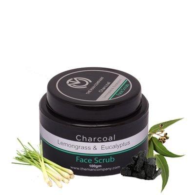 The Man Company Charcoal Face Scrub, Lemongrass and Eucalyptus Essential Oils, 100g