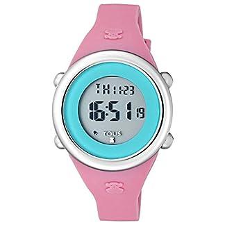 Reloj Soft Digital de acero con correa de silicona fúcsia Ref:800350615