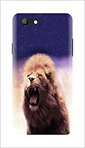 Renowned Oppo A57 back cover / Oppo A57 printed back cover - nature / Roaring lion