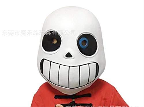 dhude Legendäre San-Maske Undertale Sans Spielmaske Cosplay Maske Latex-Maske Halloween Maske Für Männer Maske Kopfbedeckung Eine 2