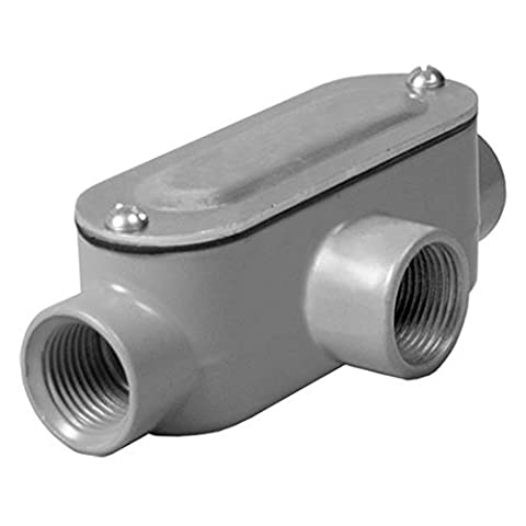 Hubbell-Bell RLT075 Threaded T Type Conduit Body, Die Cast Aluminum,