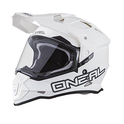 09955d19927c1 O Neal Sierra II Helm Flat Weiß Motorrad MX Motocross Enduro Offroad Quad