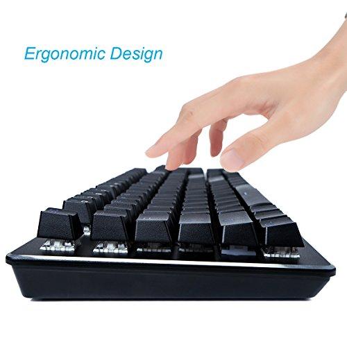 FLAGPOWER Mechanische Tastatur Gaming Tastatur beleuchtete LED Gaming-Keyboard mit Kabel, Anti-Ghosting, 104 Tasten(Multimedia Taste, 10 Hintergrundbeleuchtung) Englisch Layout - 3