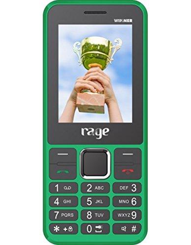 Rage Winner Dual SIM with Camera FM Bluetooth MP3 Player (Green+Black)