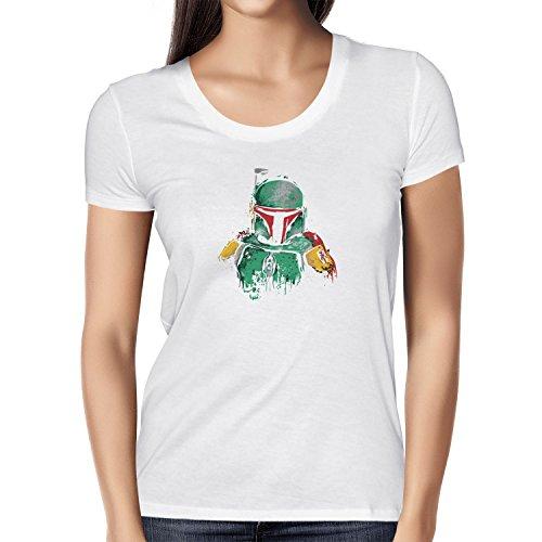 TEXLAB - Boba Splash Painting - Damen T-Shirt Weiß