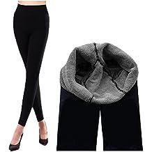 Miya® - Leggings térmicos (muy elásticos y suaves, interior con lana espesada,