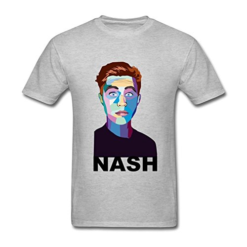 dac5bd da uomo Magcon Boys Nash Grier T Shirt Grey Medium