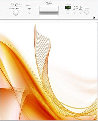 Preisvergleich Produktbild stickersnews–Magnet Spülmaschine Design Orange 60x 60cm OEM 014