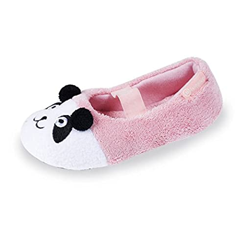 Chaussons ballerines panda fille - Rose - Taille 29/30 EU